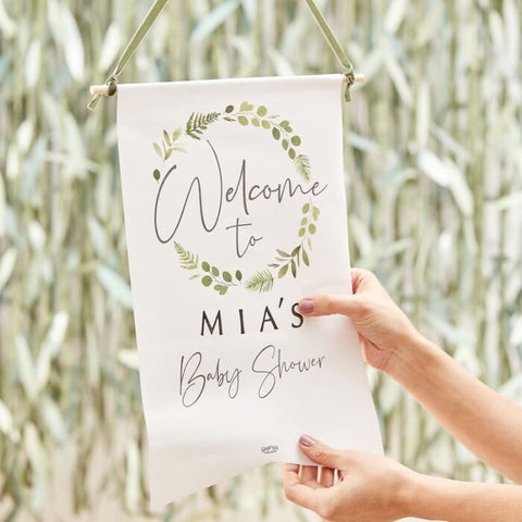 CUSTOMISABLE BABY SHOWER WELCOME SIGN
