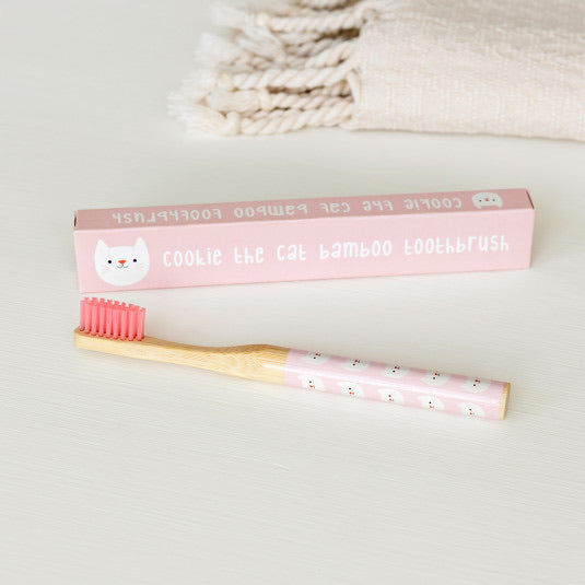 Cookie Cat Bamboo Toothbrush