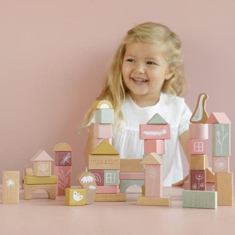 Little Dutch Wooden Building Blocks - Pink