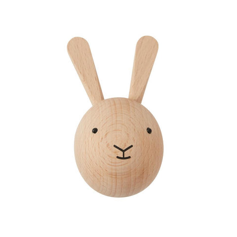 Natural Wooden Rabbit Hook