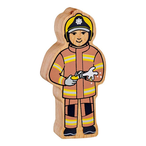 Wooden Firefighter Figure