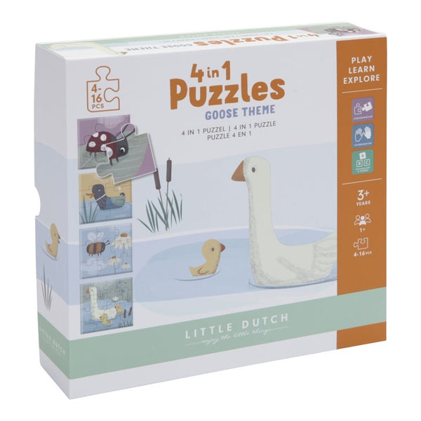 Little Dutch 4 in 1 Jigsaw Puzzles Goose Theme