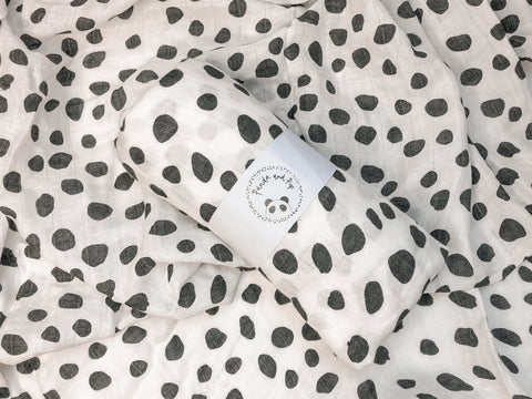 Black & White Dalmatian Print Swaddle