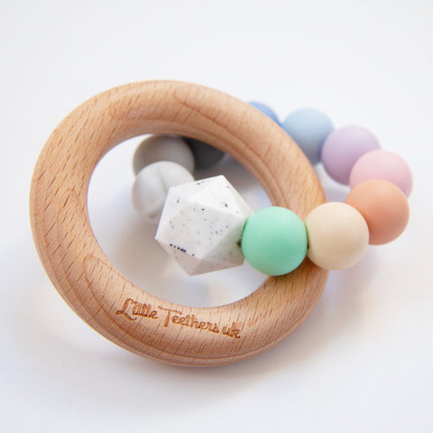 Pastel Rainbow Teething Ring