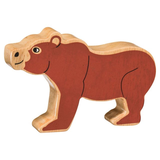 Wooden Brown Bear