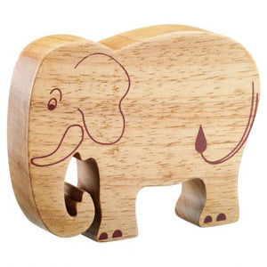 Natural Wooden Elephant