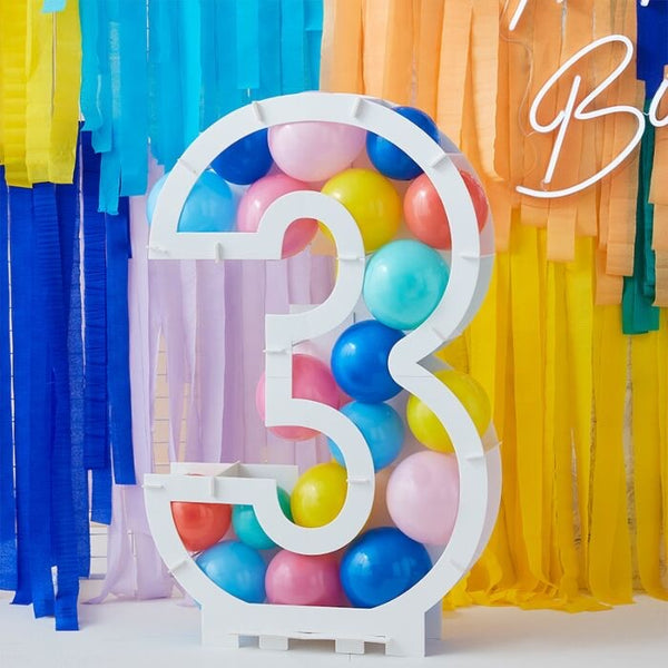 Balloon Mosaic Number Stand - 3