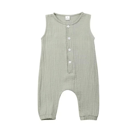 Crinkle Cotton Baby Romper