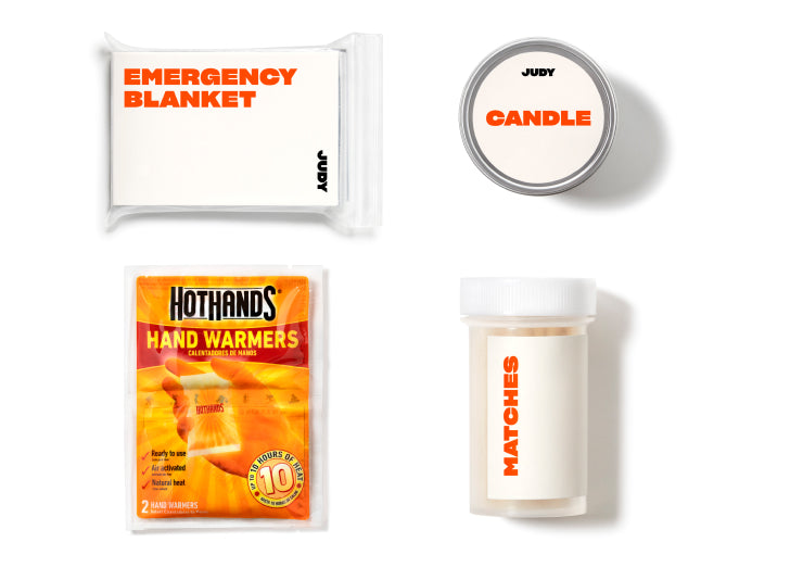 Warmth products laid out in a grid