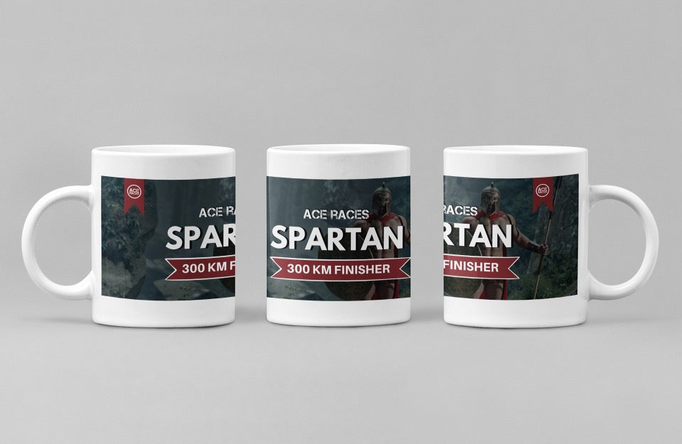 Virtual 300km Spartan Challenge - Finishers Mug