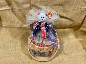 Red White and Blue Gift Basket