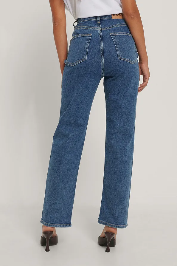 Straight High Waist Jeans Denim