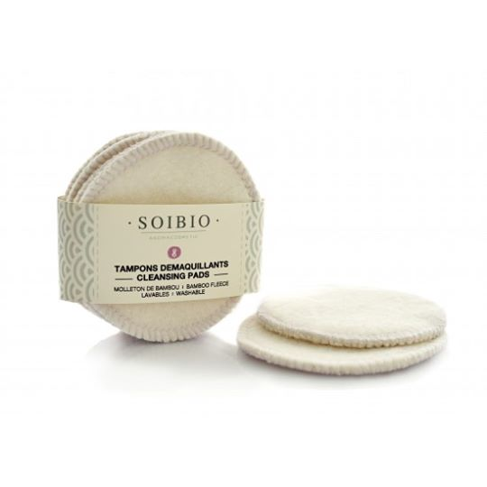 Tampons démaquillants de coton Bio (8) - Cotton-Bamboo Cleansing Cloths (8)