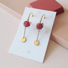 Charger l'image dans la galerie, Boucles Spice - (SD154)rouille (SD1670) émeraude - Spice Earrings
