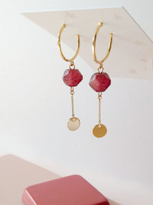 Boucles Spice - (SD154)rouille (SD1670) émeraude - Spice Earrings