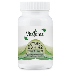 Vitamin D3 10.000 IE & Vitamin K2 200 µg - 365 Tabletten