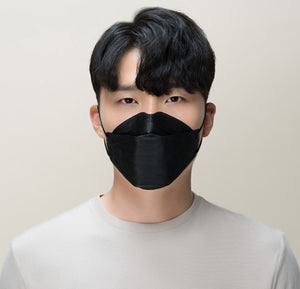 HEAL MADE KF94 Large Black Mask 100pcs