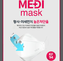Load image into Gallery viewer, MEDI KF94 Large Black Mask 100pcs