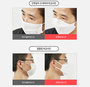 [Korean Ver.] Goodday KF94 Large Mask White 50pcs + Black 50pcs