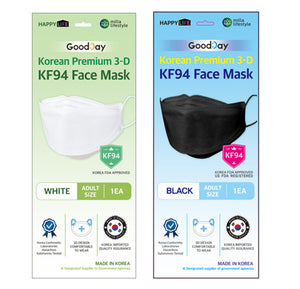 [English Ver.] Goodday KF94 Small Mask White 50pcs + Black 50pcs