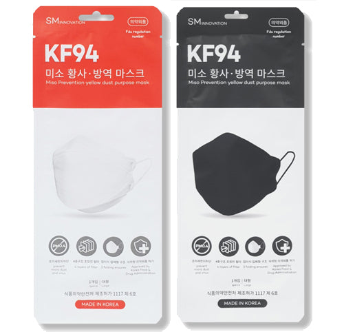 MISO KF94 Large Mask White 50pcs + Black 50pcs