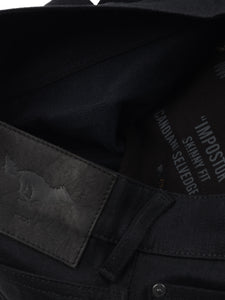 El Solitario Impostor Skinny raw selvedge Denim Black