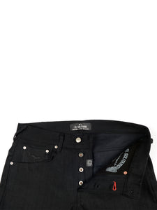 ES-1 Tappered Raw Selvedge Denim Black