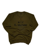 Load image into Gallery viewer, El Solitario WTF Green sweatshirt. Front