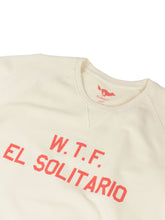 Load image into Gallery viewer, El Solitario WTF Ecru Sweatshirt. Detail Front
