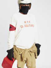 Load image into Gallery viewer, El Solitario WTF Ecru Sweatshirt. Rider