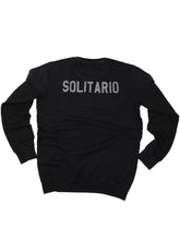 Load image into Gallery viewer, El Solitario Basic Embroidered Black Sweatshirt. Front