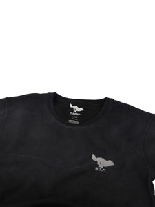 El Solitario Basic Embroidered Black Sweatshirt. Logo