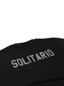 El Solitario Basic Embroidered Black Sweatshirt. Detail Back