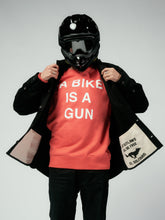 Load image into Gallery viewer, El Solitario Bike Gun Sweatshirt. Rider