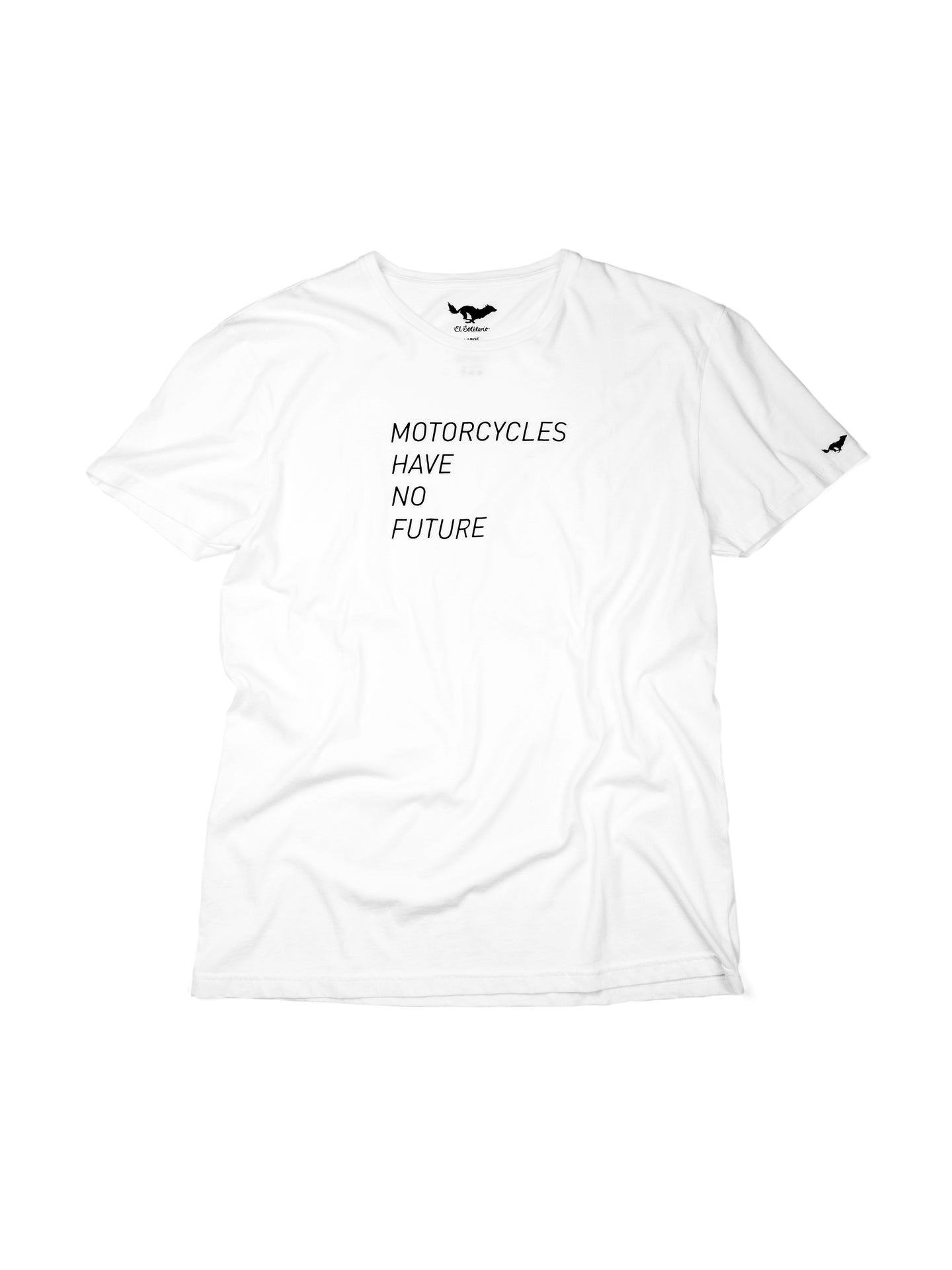 El Solitario No Future White T-Shirt. Front