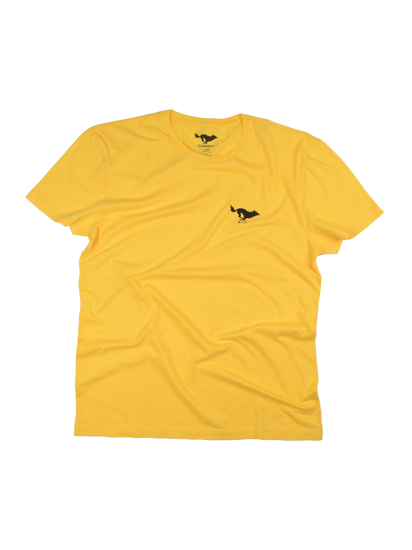 El Solitario Basic Yellow T-Shirt. Front