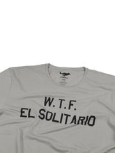 Load image into Gallery viewer, El Solitario WTF Grey T-Shirt. Detail