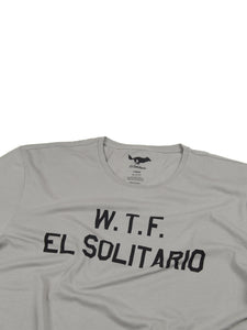 El Solitario WTF Grey T-Shirt. Detail