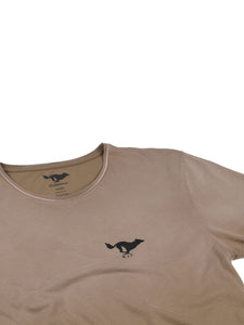 El Solitario Basic Faded Brown T-Shirt. Logo