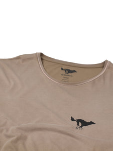 El Solitario Basic Faded Brown T-Shirt. Detail