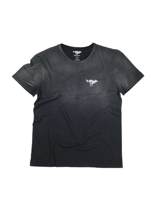 El Solitario Basic Faded Black T-Shirt. Front