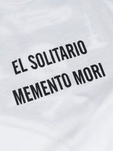 Load image into Gallery viewer, El Solitario Memento Mori T-Shirt. Logo