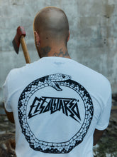 Load image into Gallery viewer, El Solitario Ouroboros T-Shirt. Back Rider