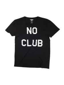No Club Black T-Shirt