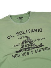 Load image into Gallery viewer, El Solitario Kale Or Death T-Shirt. Detail