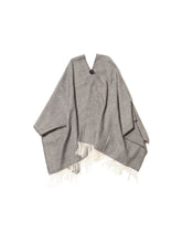 Load image into Gallery viewer, El Solitario Short Poncho Dark Grey