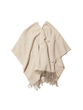 Load image into Gallery viewer, El Solitario Traditional Poncho White