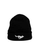 Load image into Gallery viewer, El Solitario El Solitario Cashmere Beanie Hat black. Front 2