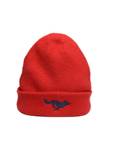 Load image into Gallery viewer, El Solitario Cashmere Beanie Hat Red. Front 2