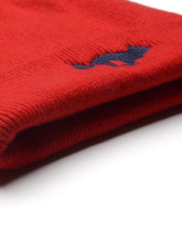 Load image into Gallery viewer, El Solitario Cashmere Beanie Hat Red. Front 3